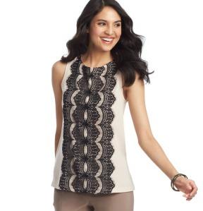 loft lace shell blush and black