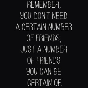 number of friends