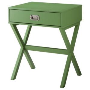 target green bedside table