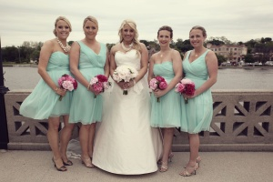 wedding holly and bridesmaids