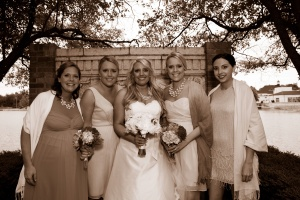 wedding holly and sisters