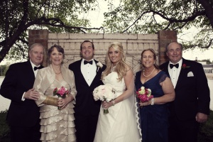 wedding holly jay and both sets of parents
