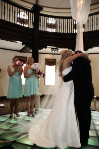 wedding holly jay vows kissing