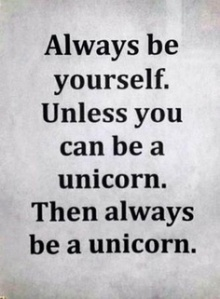 always be yourself unicorn